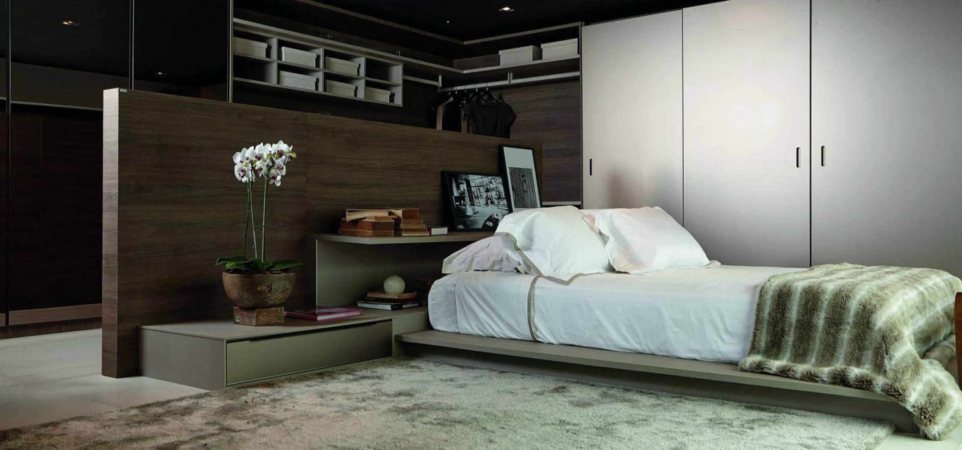 Dormitório Dell Anno Curitiba Móveis Planejados Cama Baixa 1