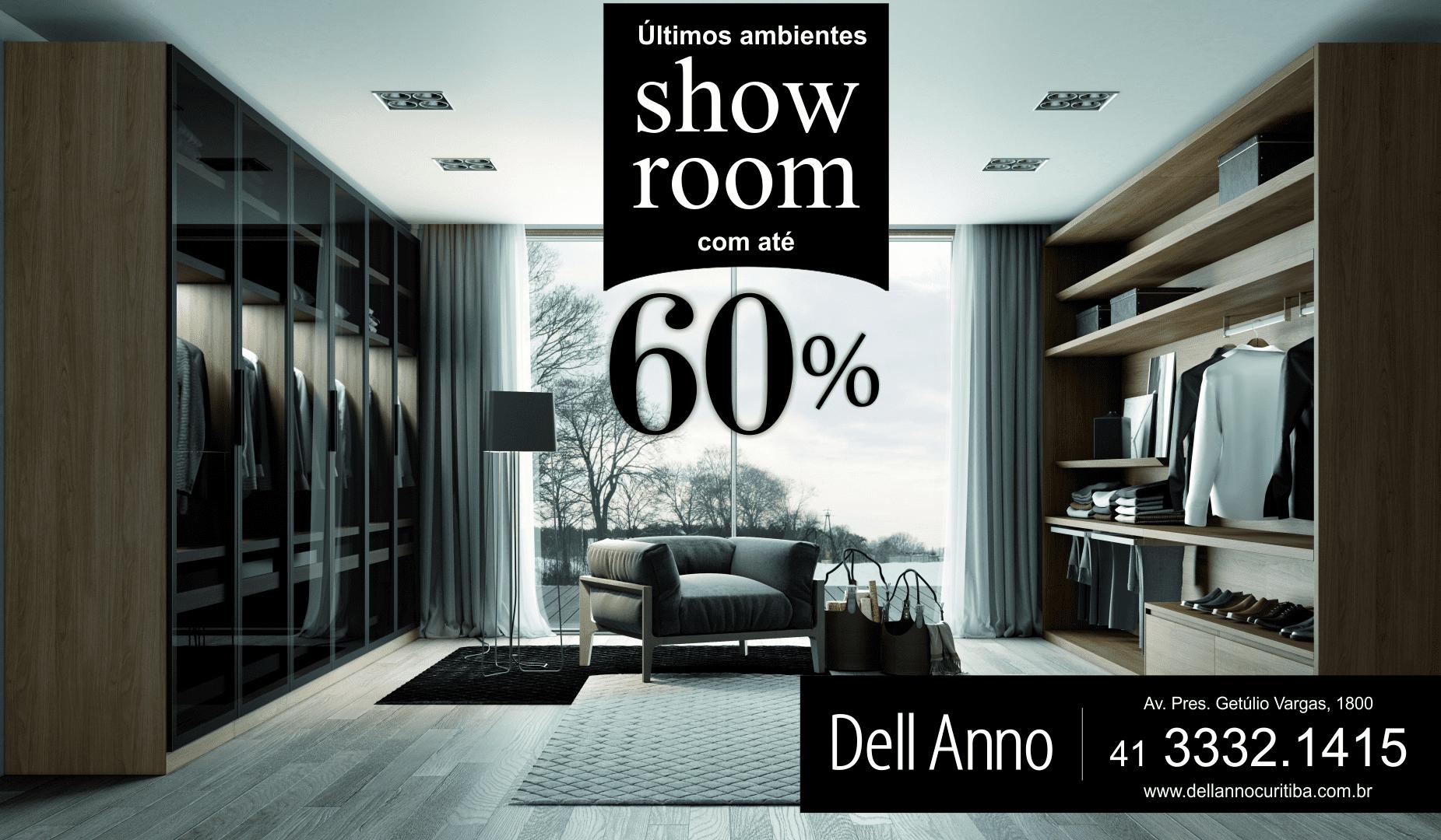 Aproveite Últimos Ambientes de Show Room com até 60% de Desconto