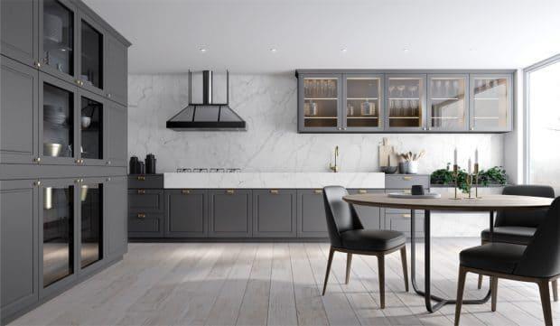 Cozinha Provençal com Acabamentos Vinil e Lacca Satin Stone PX-Ouro