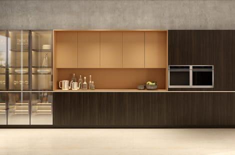 Cozinha Dell Anno com nicho e armário superior com Lacca Corcovado